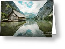 Lake Obersee Boat House Greeting Card