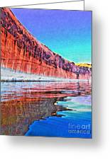 Lake Powell With Cliff Reflections Greeting Card