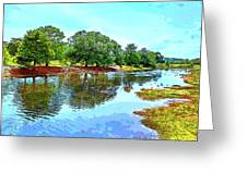 Lake Reflections On A Sunny Day Greeting Card