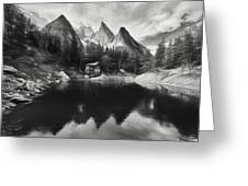 Lake Verde In The Alps IIi Greeting Card