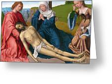 Lamentation Over The Body Of Christ Greeting Card