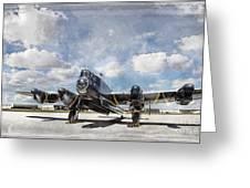 Lancaster Engine Test 2 Greeting Card by Brad Allen Fine Art