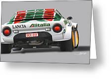 Lancia Stratos Rear Greeting Card