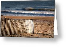 Landscape Jersey Shore Ocean Fence  Greeting Card