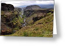 Landscape Of Canyon And River In Greeting Card