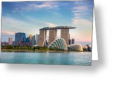 Landscape Of The Singapore Financial Greeting Card