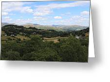 Landscape View From Little Langdale Greeting Card