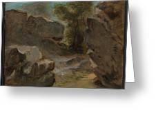 Landscape With Rocks  Augerville  Greeting Card