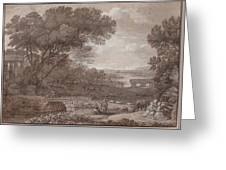 Landscape With The Rest On The F  Greeting Card
