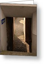 lane in Cochem-Cond in Germany Greeting Card