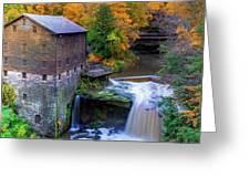 Lanterman's Mill In Fall Greeting Card