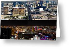 Las Vegas Night And Day Work A Greeting Card