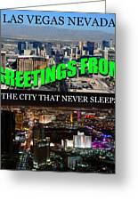 Las Vegas The City That Never Sleeps Custom Pc Greeting Card