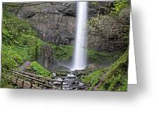 Latourell Falls Greeting Card by Nicole Young