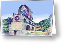 Laxey Wheel 6 Greeting Card