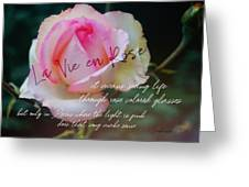 Le 58 Tour Eiffel Quote Greeting Card by JAMART Photography