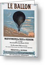 Le Ballon Aeronautical Journal, 1883 French Poster Greeting Card