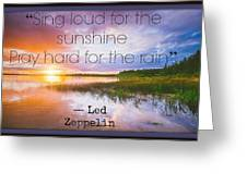 Led Zeppelin 0022 Greeting Card