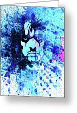 Legendary Alice Cooper Watercolor Greeting Card