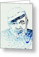 Legendary Hemingway Watercolor Greeting Card