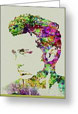 Legendary James Dean Watercolor Greeting Card