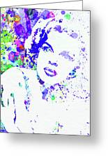 Legendary Judy Garland Watercolor I Greeting Card