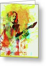 Legendary Kirk Hammett Watercolor Greeting Card