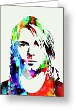 Legendary Kurt Cobain Watercolor Greeting Card