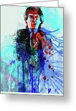 Legendary Mick Jagger Watercolor Greeting Card