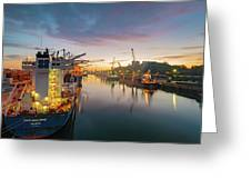 Leixoes Harbour Greeting Card
