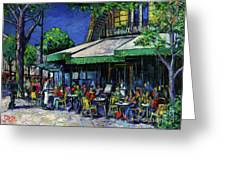 Les Deux Magots Paris Greeting Card