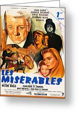 Les Miserables 1958 French Movie Classic Greeting Card