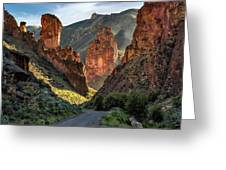 Leslie Gulch Road Greeting Card