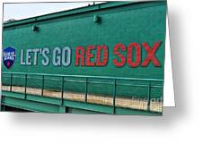 Let's Go Red Sox Greeting Card