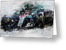 Lewis Hamilton, Mercedes Amg F1 W09 - 10 Greeting Card