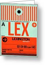 Lex Lexington Luggage Tag I Greeting Card