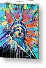 Liberty In Color Greeting Card