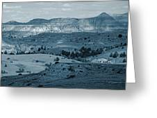 Light And Shadow In West Dakota Greeting Card