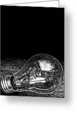 Lightbulb Black And White Greeting Card