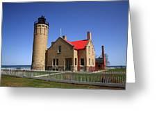 Lighthouse - Mackinac Point Michigan Greeting Card