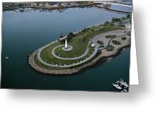 Lighthouse On The Coast, Long Beach Greeting Card