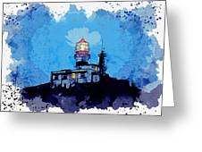 Lighthouse, Watercolor, C2019, By Adam Asar - 19 Greeting Card