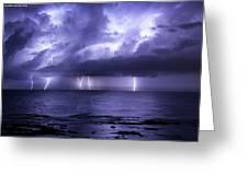 Lighting Sea Greeting Card