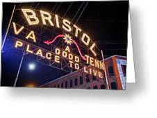 Lighting Up The Bristol Sign Greeting Card