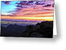 Lights Of Tucson At Sunset Greeting Card by Chance Kafka
