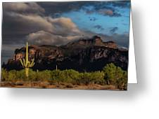 Light Play On The Superstitions  Greeting Card