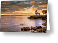 Lime Kiln Light House Greeting Card