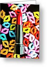 Lipstick Lips Greeting Card