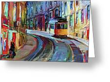 Lisbon Tram 6 Greeting Card