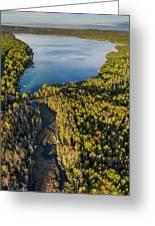 Litte Traverse Lake Vertical Panorama Greeting Card